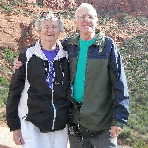 Mom and Dad on one of their many travels together (2013-Sedona, AZ)